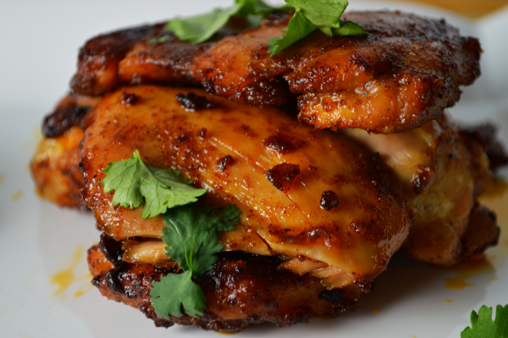 BBQ Roasted Chicken Thighs