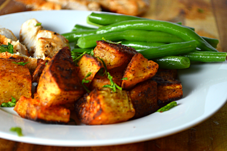Spicy Smokey Roasted Sweet Potatoes 3